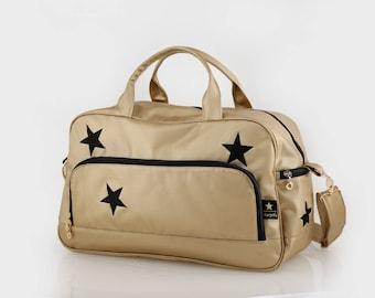 Diaper bag, Metallic Diaper bag, Messenger Bag, Baby bag , Stroller bag  , Crossbody bag , Shoulder bag , Nappy bag