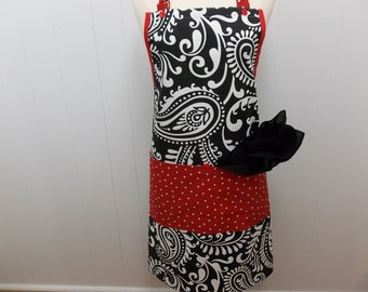 Black And White Eclectic Apron