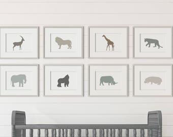 Printable Animal Nursery Prints, Animal Nursery Decor, Animal Nursery Art, Nursery Wall Art, Animal Nursery Wall Decor, Zoo Nursery Decor