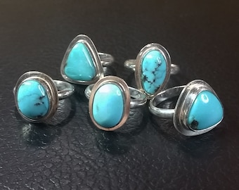 Campitos Turquoise Solitaires - Sizes 6.5 - 7.5
