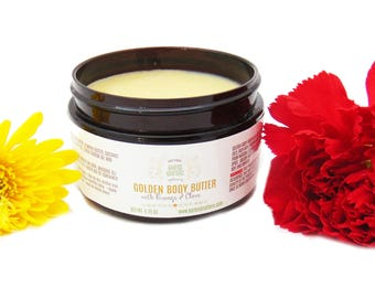 Golden Body Butter - Essential Oils, Dry Skin, Sensitive Skin, Hands, Baby Bottom, Elbows, Knees, Heels, Feet, Cracks, Lips