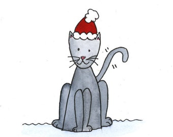 Three Pack Cat Themed Christmas Cards