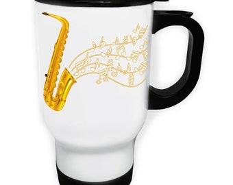 International Jazz Festival Saxophone Stainless S Travel 14oz Mug a951t