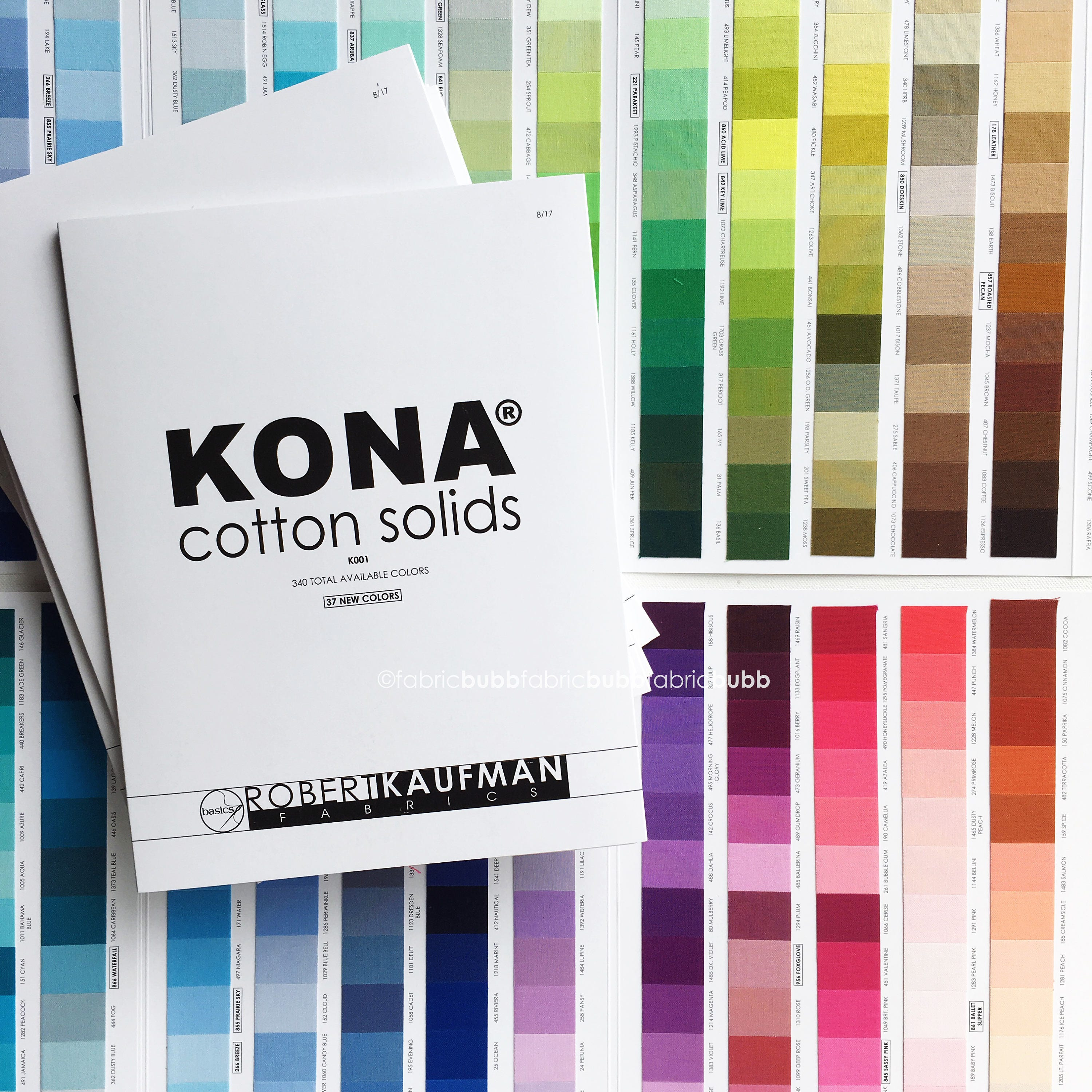 Kona color card 340 colors released 2017 robert kaufman fabric 3500 nvjuhfo Images