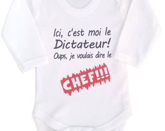Bodysuit baby boy or girl: here the dictator