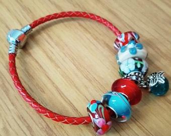Charm Bead Bracelet, Butterfly Sky