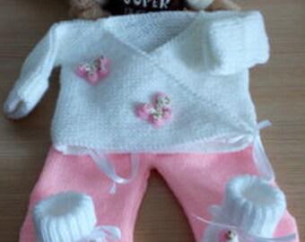 baby jacket pants 0/3 month shoe set