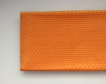 Minky Changing Pad Cover - Orange
