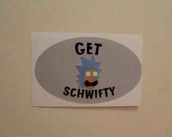 "Rick and Morty Rick Sanchez ""Get Schwifty"" Bumper Sticker"