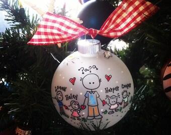 World's Best GRANDFATHER, Personalized Christmas Ornament, Papa, Pa, Paw-paw, Pops, Grandpa