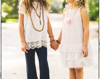 Sadie Necklace: Girls' Feather Necklace