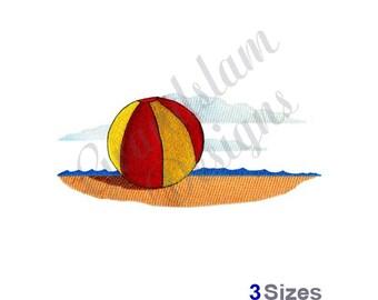 Beach Ball Scene - Machine Embroidery Design