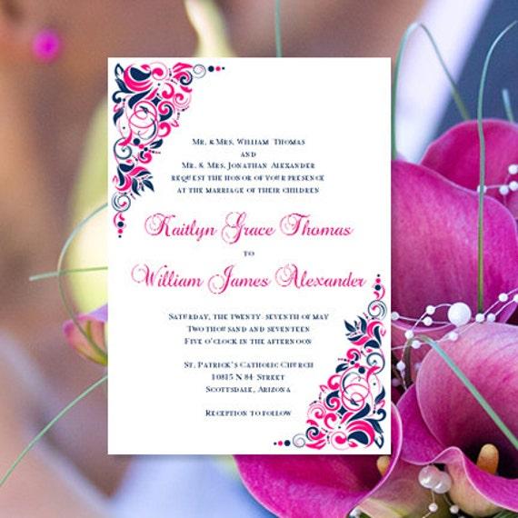 Fuchsia Invitations