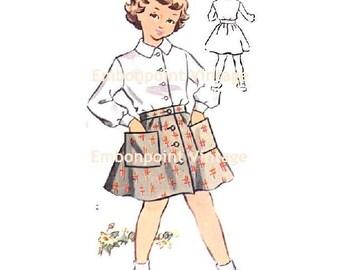 Plus Size (or any size) Vintage 1950s Blouse Pattern - PDF - Pattern No 138a Amy Blouse