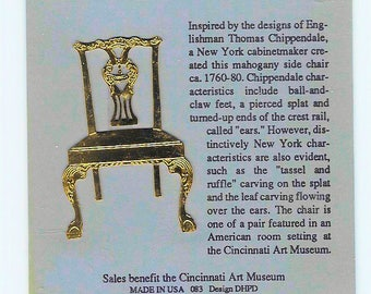 BOOKMARK CHIPPENDALE CHAIR  Brass Tree Ornament