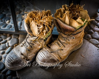 Tired Boots Old Boots Rustic Leather