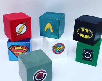 Superhero Wooden Blocks (Miniature)