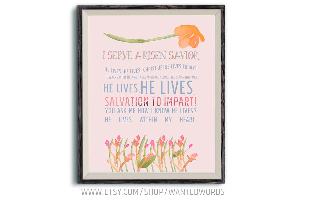 Lyric risen lyrics : I Serve A Risen Savior Hymn Lyrics Inspirational Christian