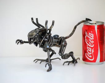 Metal Sculpture Monster (new type A) Model Recycled Handmade Art Gift for Anniversary Birthday Christmas Valentine Wedding
