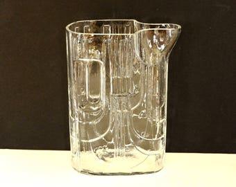 Mid Century Modern Reidel Glass Pitcher