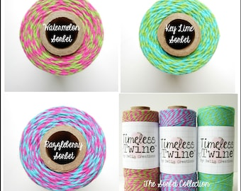 SALE - Sorbet Collection Bakers Twine by Timeless Twine