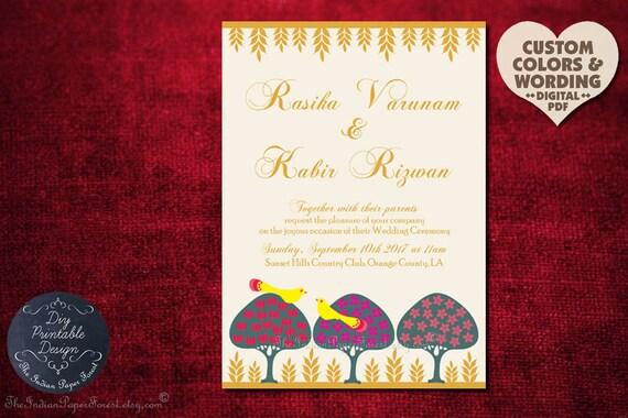 Moghul lovebirds trees indian wedding invitation card hindu moghul lovebirds trees indian wedding invitation card hindu sikh muslim royal asian boho chic persian rustic bengali gujarati marathi jain filmwisefo Images