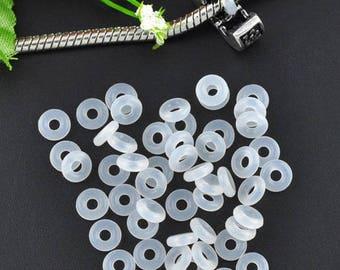 100 blockers bead 6mm rubber rings