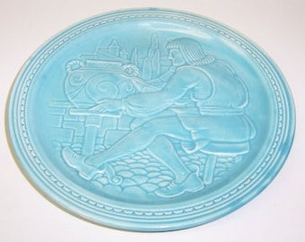Homer Laughlin Turquoise FIESTA 7 Inch POTTERS PLATE 1939 Worlds Fair