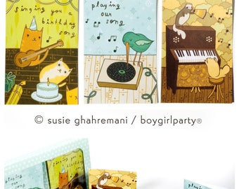 greeting cards - ALL OCCASION notecard set, boygirlparty susie ghahremani, mixed stationery boxed notecards, womens gift, boy girl party