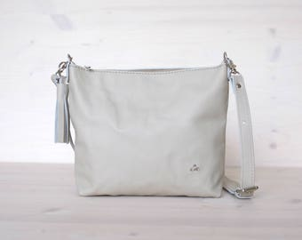 White Leather Bag, White Bag, White Crossbody Bag, Leather Bag, Leather Crossbody, Small Crossbody, Everyday Bag, Holiday Bag, Small Bag