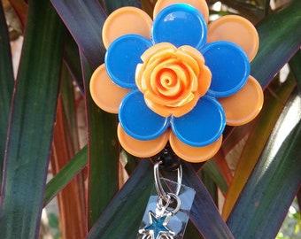 Orange/blue badge holder