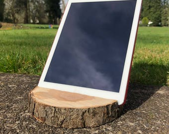 Reclaimed Applewood Ipad / Tablet Stand
