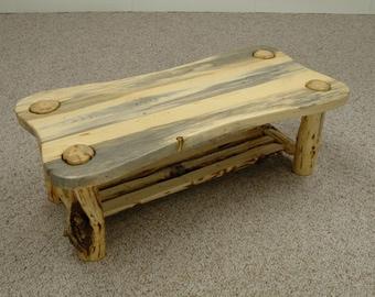 Rustic log furniture Mountain Hewn Contour Coffee Table