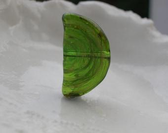Hard To Find Venetian Murano Glass Bead, 30mm x 14mm