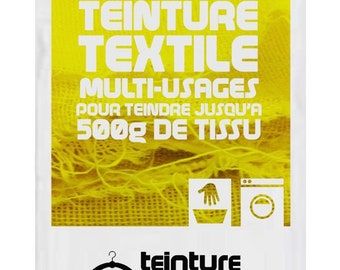 Design dye for fabric/textile/garment colors bright yellow / lemon 15