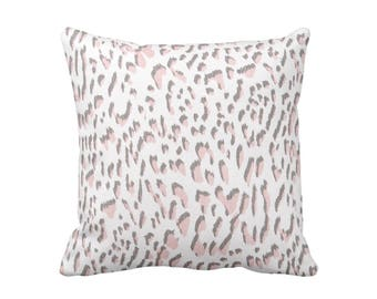 Blush Pink Pillow Cover Decorative Throw Pillow Cover Leopard Print Pillow Millennium Pink Pillow Euro Pillows 20x20 Pillows 18x18 Pillows