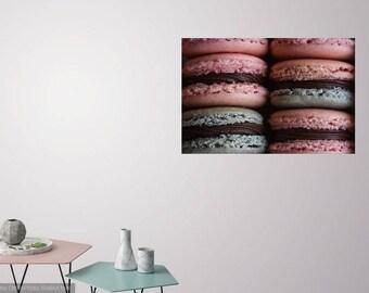COLORFUL MACARONS - Food Art - Kitchen Photo - Horizontal Photo - Digital Photo - Digital Download - Instant Download - Wall decor