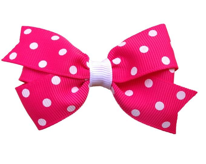 Hot pink hair bow - hair bows, bows, hair bows for girls, toddler hair bows, girls hair bows, baby bows, pigtail bows, hairbows, hair clips