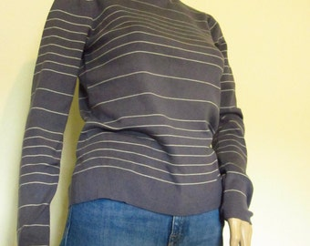 NWOT 90s Purple Striped Turtleneck