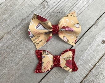 Beauty and beast| Belle Bow| Princess Bow| Classic Bow