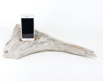 Docking Station for iPhone, iPhone dock, iPhone Charger, iPhone Charging Station, iPhone driftwood dock, wood iPhone dock/ Driftwood-No.1033