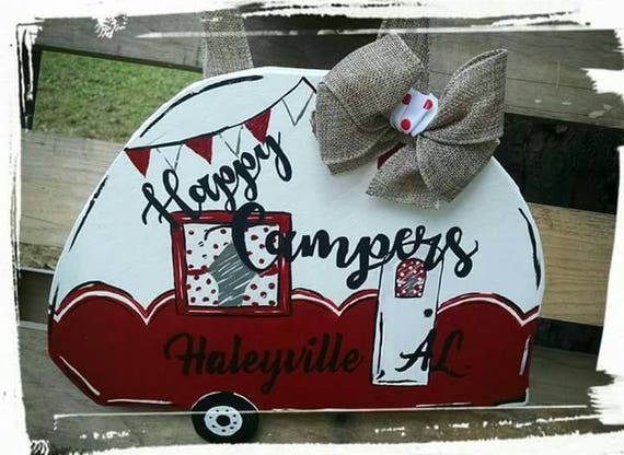 Happy campers camp sign hanger personalized