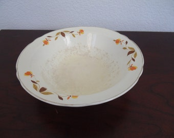 "Autumn Leaf China 9"" Ruffled Round Vegetable Bowl"