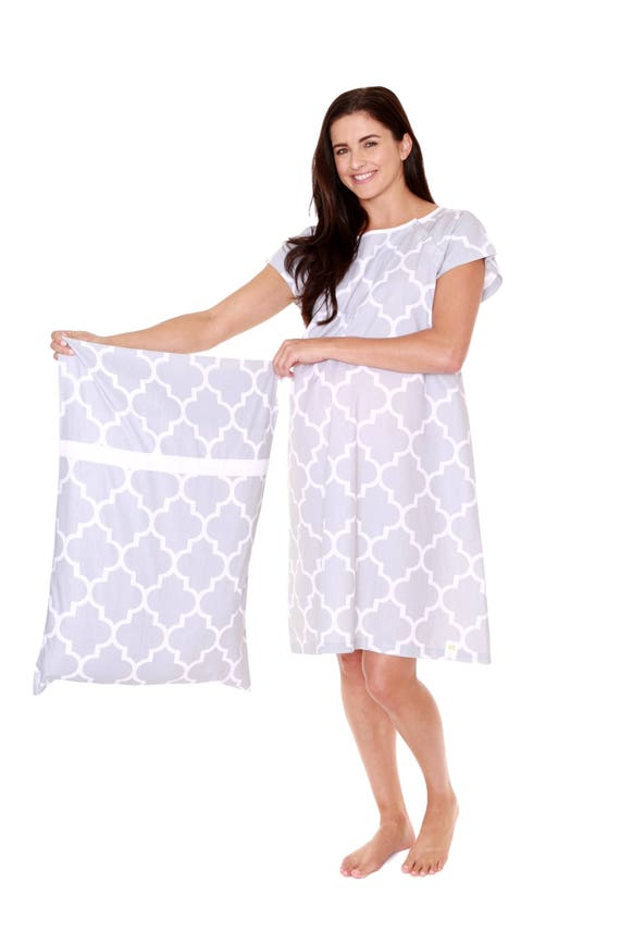 Phoebe Gray Maternity Labor Delivery Hospital Gown Gownie &