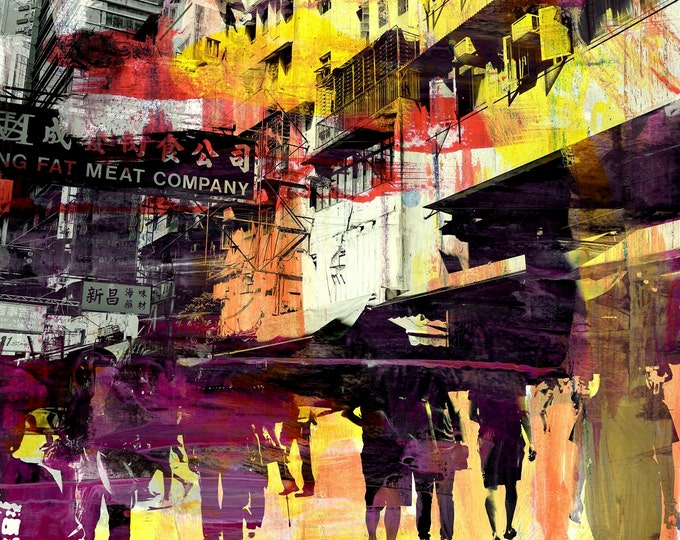HONG KONG convergence III by Sven Pfrommer - Artwork is ready to hang