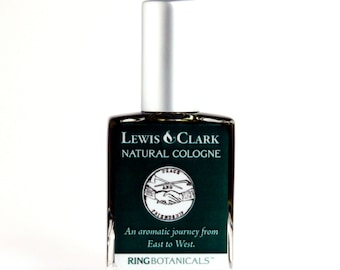 Lewis and Clark Natural Cologne - Man gift with oakmoss, pine, fir, sweetgrass, sage and frankincense