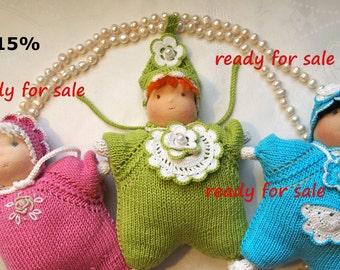 Three little Waldorf dolls-butterfly