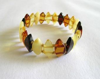 Baltic Amber Adult Bracelet - Mix Colored