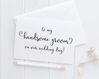 To My Handsome Groom Card. Groom Card From Bride. Wedding Day Card Groom. Card For Groom. To My Groom Card. Groom Card For Wedding Day.