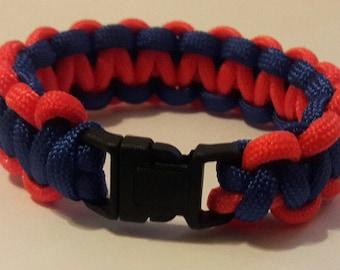 Paracord bracelet, blue and Orange bracelet, blue and Orange paracord bracelet.